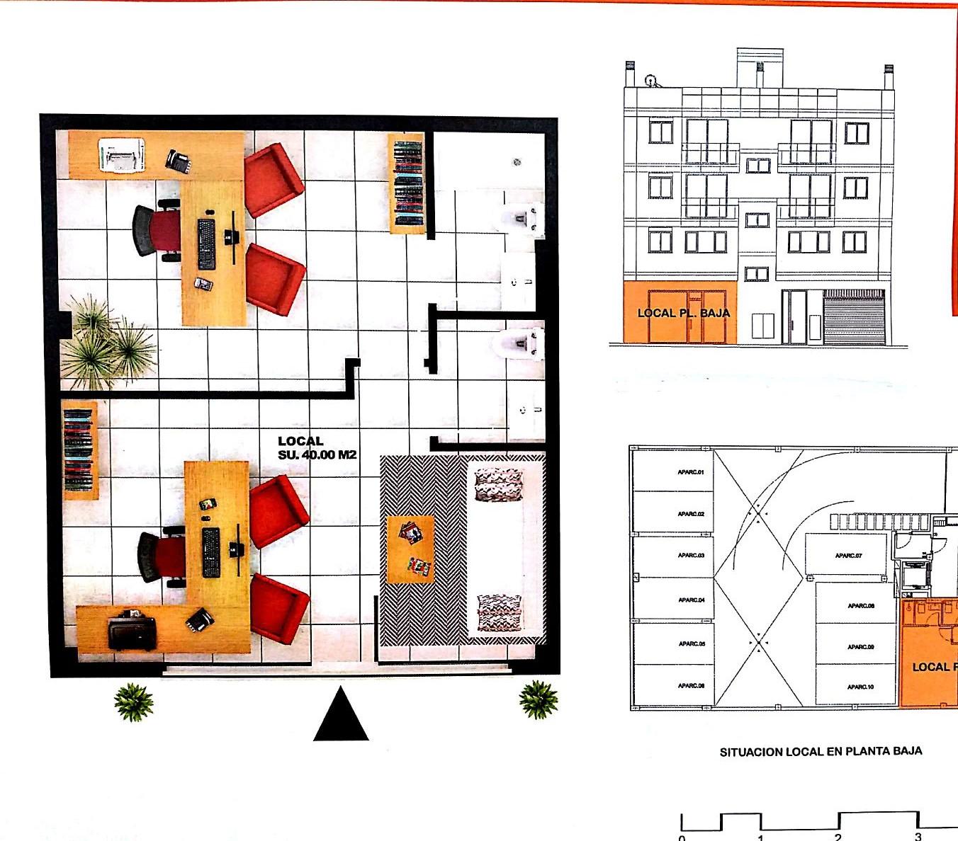 2050-2 Local en edificio de Obra Nueva junto al centro